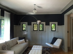 North Vancouver living room area interior painting.